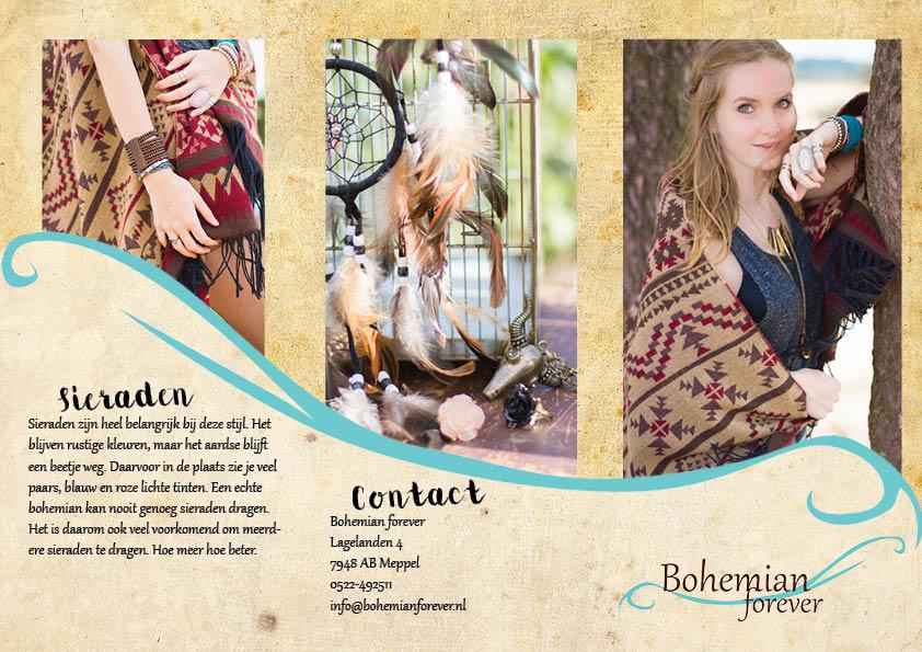 brochure bohemian winkel fotoshoot reclamemateriaal verzonnenbedrijf